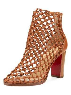 Christian Louboutin Porligatica Caged Red Sole Booties