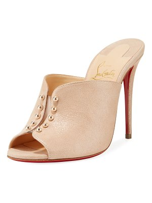 Christian Louboutin Predumule Suede Red Sole Mule Sandals
