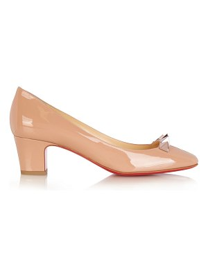 Christian Louboutin Pyramidame 55 patent-leather pumps