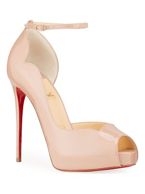 Christian Louboutin Round Chick Ultra Red Sole Platform Pumps