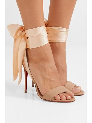 Christian Louboutin sandale du desert 100 leather and satin sandals