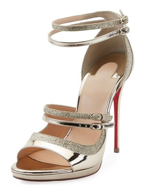 Christian Louboutin Sotto Sopra Metallic Red Sole Sandal