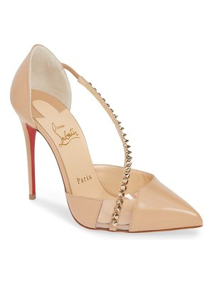 Christian Louboutin spike cross strap pump