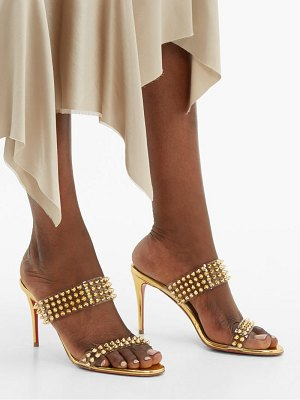 Christian Louboutin spikes only 85 mirrored leather sandals