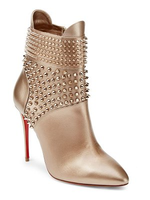 Christian Louboutin studded 100 leather booties