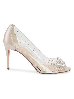 Christian Louboutin sucre glace crystal pvc leather pumps