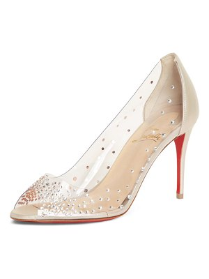 Christian Louboutin sucre glace embellished clear sandal