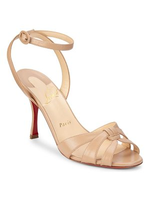 CHRISTIAN LOUBOUTIN Trezuma Ankle-Strap Open Toe Pumps