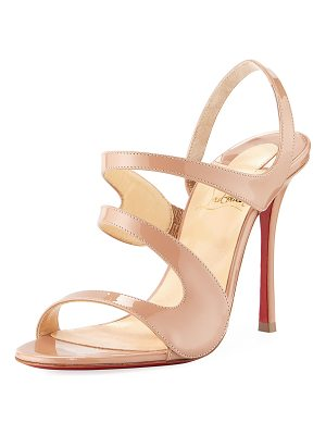 Christian Louboutin Vavazou Asymmetric Red Sole Sandal