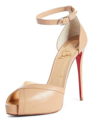 Christian Louboutin very cathy ankle strap peep toe pump