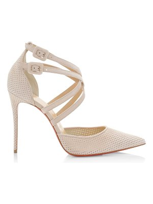 Christian Louboutin victorilla perforated leather pumps