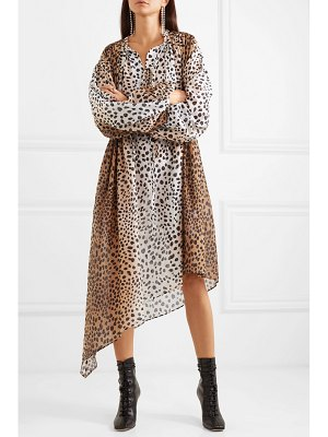 Christopher Kane animal-print cotton and silk-blend poplin dress