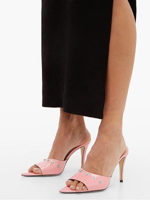 Christopher Kane latex-strap patent-leather mules