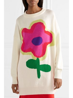 Christopher Kane oversized intarsia wool-blend sweater