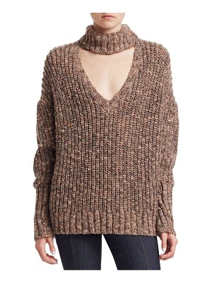 Cinq A Sept adia choker chunky knit sweater