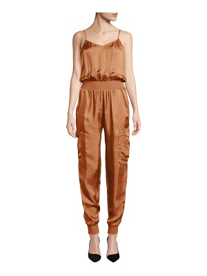 Cinq A Sept Amia Twill V-Neck Jumpsuit