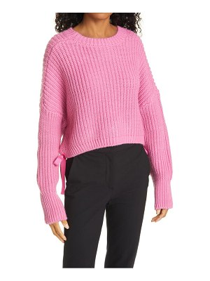 Cinq A Sept eddie side tie crewneck sweater