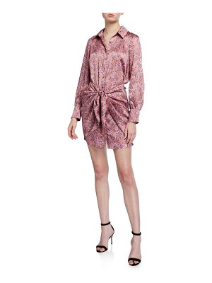 Cinq A Sept Gaby Psychedelic Paisley Dress