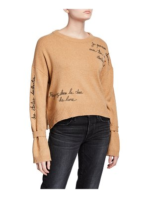 Cinq A Sept Josephine Embroidered Pullover