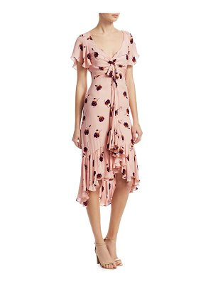 CINQ A SEPT Mateo Silk Floral-Print Dress