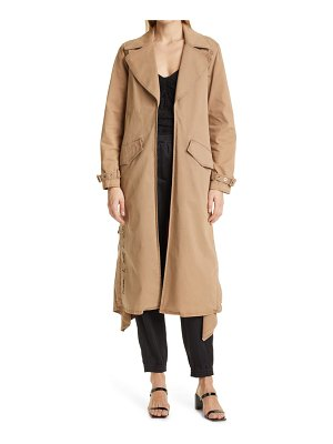 Cinq A Sept sienna embroidered cotton trench coat