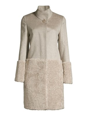 Cinzia Rocca faux fur-blocked wool coat