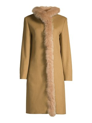Cinzia Rocca fox fur lined wool coat