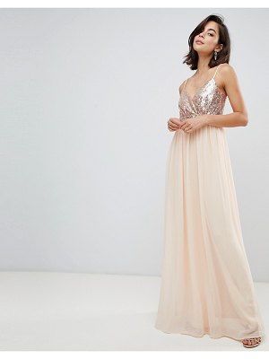 City Goddess cami maxi dress with sequin bodice