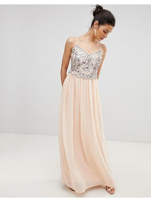 City Goddess Embellished Chiffon Maxi Dress