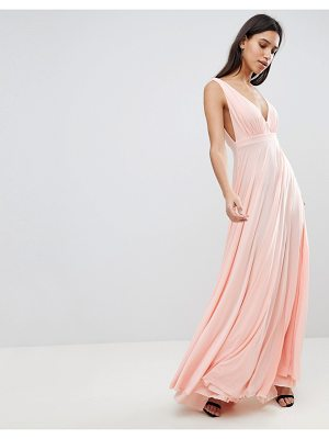 City Goddess Maxi Dress With Extreme Pleated Detail