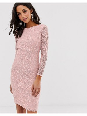City Goddess v back lace midi dress