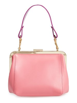 Clare V. le box leather top handle bag