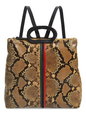 Clare V. marcelle snake embossed goatskin backpack