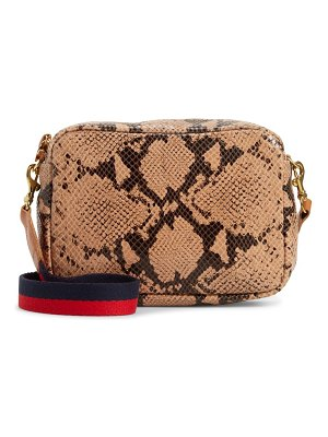 Clare V. midi sac snakeskin embossed leather crossbody bag