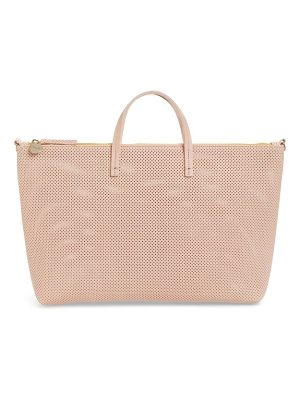 Clare V. perforated leather tote