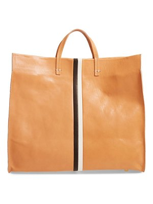 Clare V. simple stripe leather tote