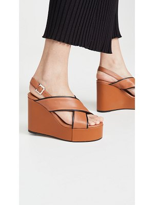Clergerie mirane wedge sandals