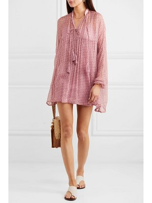 Cloe Cassandro tessa printed silk-crepon mini dress