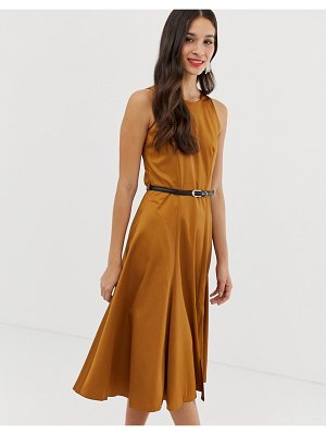 Closet London closet fit and flare panel midi dress