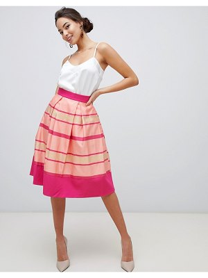 Closet London closet striped hem pleated skirt