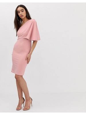 Club L London club l one shoulder ruffle sleeve dress