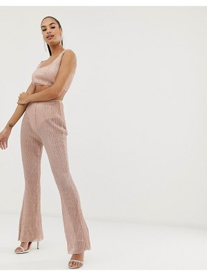 Club L London club l plisse sequin detail pants