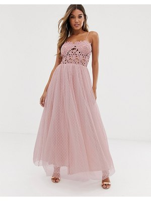 Club L London club l tulle skirt maxi dress with lace bodice