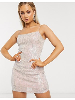 Club L London iridescent sequin cami mini dress in gold