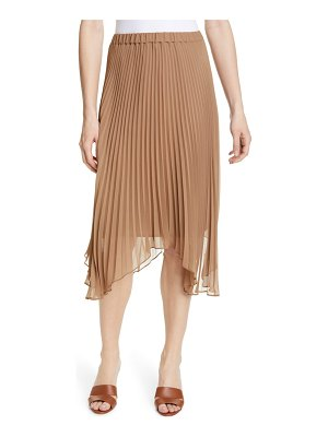 Club Monaco asymmetrical hem pleated midi skirt