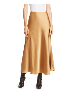 Club Monaco bias cut satin slip skirt
