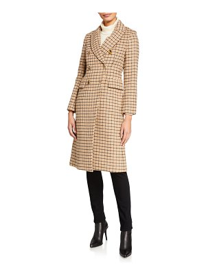 Club Monaco Jemma Checked Wool Coat
