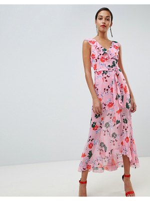 C/Meo Collective c/meo floral ruffle midi dress