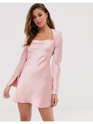 C/Meo Collective polarised long sleeve mini dress-pink