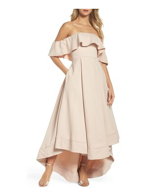 C/MEO COLLECTIVE Temptation Off The Shoulder Ballgown